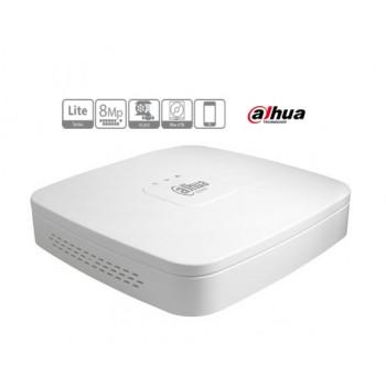 Gravador IP Dahua 4 Canais  4K/8MP/H265/H264+  1080P
